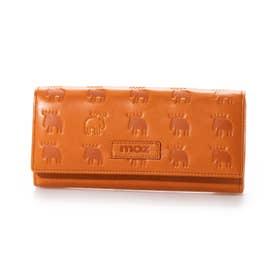 かぶせソフトレザー長財布 (オレンジ)