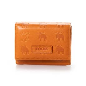 二つ折りL字ファスナー財布 (オレンジ)
