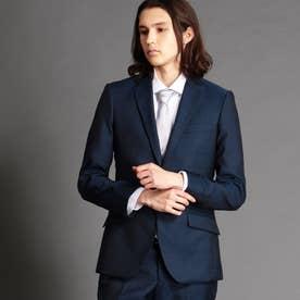 シャドーウィンドウペンチェック柄2つボタンスーツ (60ブルー)