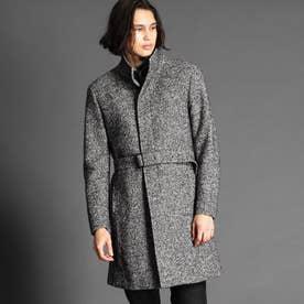 ウール混スタンドカラーコート (29グレー)