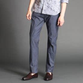 ヘリンボーン柄パンツ (60ブルー)