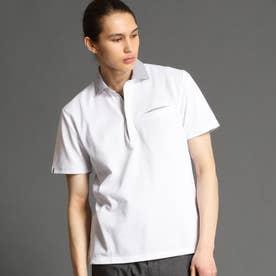 ハニカムポロシャツ (09ホワイト)