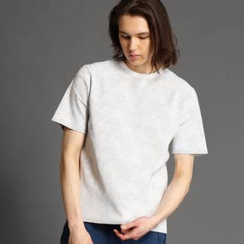 【ex/tra】クルーネックニットTシャツ (19ライトグレー)