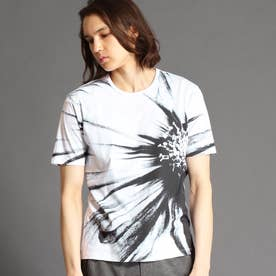 フラワーアラカルトプリントTシャツ (09ホワイト)