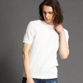 クルーネックニットTシャツ (09ホワイト)