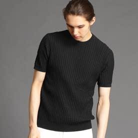 クルーネックニットTシャツ (49ブラック)