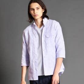 ボタニカルジャカードスタンドカラーシャツ (88ラベンダー)