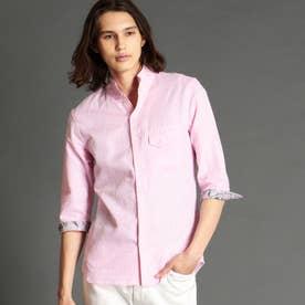 ジオメトリックジャカードスタンドカラーシャツ (88ラベンダー)