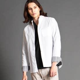 スタンドカラードビーシャツ (09ホワイト)