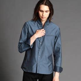 スタンドカラードビーシャツ (60ブルー)