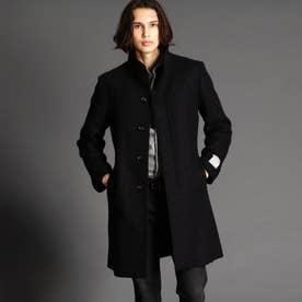 ウール混スタンドカラーコート (49ブラック)