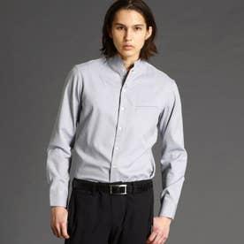 リネンブレンドスタンドカラーシャツ (29グレー)
