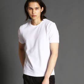 【ex/tra】ジャカードハニカムTシャツ (09ホワイト)