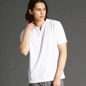 ブリスターメランジジャカードTシャツ (09ホワイト)