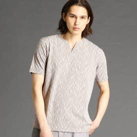 ブリスターメランジジャカードTシャツ (13ブラウン)
