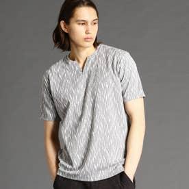 ブリスターメランジジャカードTシャツ (29グレー)