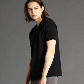 ブリスターメランジジャカードTシャツ (49ブラック)