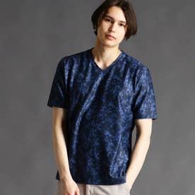 【ex/tra】ボタニカルプリントTシャツ (67ネイビー)