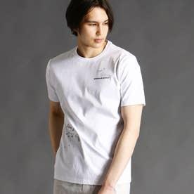 ロゴ&ペイントプリントTシャツ (09ホワイト)