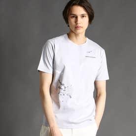 ロゴ&ペイントプリントTシャツ (19ライトグレー)