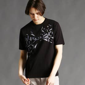 グラフィックプリントTシャツ (49ブラック)