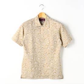 【ex/tra】LEGGIUNOオープンカラーシャツ (26マスタード)