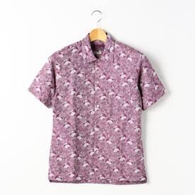 【ex/tra】LEGGIUNOオープンカラーシャツ (88ラベンダー)