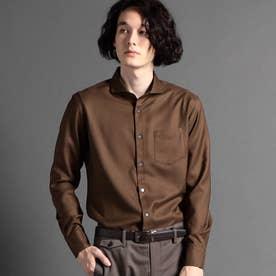 OXIJEWELカッタウェイカラーシャツ (13ブラウン)