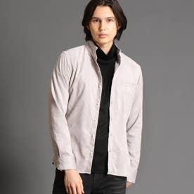 テクニカルスウェード スタンドカラーシャツ (19ライトグレー)