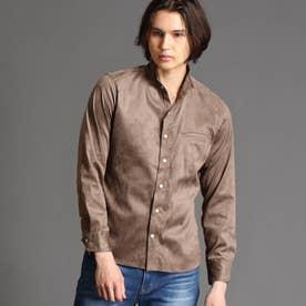 テクニカルスウェード スタンドカラーシャツ (29グレー)