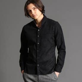 テクニカルスウェード スタンドカラーシャツ (49ブラック)