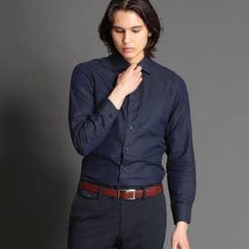 ダークドビーセミワイドカラードレスシャツ (67ネイビー)