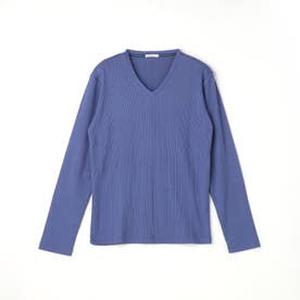 VネックテレコTシャツ (60ブルー)