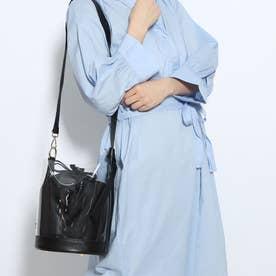 巾着バッグ:ビニールバッグ:ミニショルダーバッグ (ブラック)