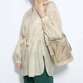 巾着バッグ:ビニールバッグ:ミニショルダーバッグ (ゴールドコンビ)
