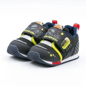 ベビー キッズ 男の子 女の子 スニーカー アンパンマン ベビーベビー赤ちゃん 靴 ファーストワイド (ブラック)