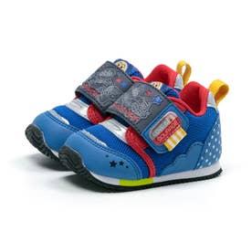 ベビー キッズ 男の子 女の子 スニーカー アンパンマン ベビーベビー赤ちゃん 靴 ファーストワイド (ブルー)