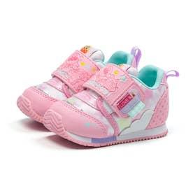 ベビー キッズ 男の子 女の子 スニーカー アンパンマン ベビーベビー赤ちゃん 靴 ファーストワイド (ピンク)
