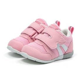 ベビー キッズ 男の子 女の子 スニーカー MS B111 コハシ 幅広 3E ベビー赤ちゃん 靴 ファーストワイド (ピンク)