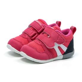 ベビー キッズ 男の子 女の子 スニーカー MS B111 コハシ 幅広 3E ベビー赤ちゃん 靴 ファーストワイド (ストロベリー)