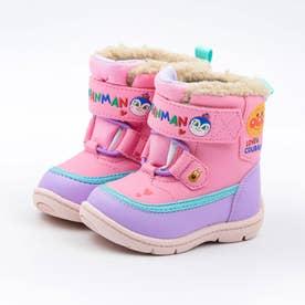 ベビー キッズ  アンパンマン 長靴 スノーブーツ レインブーツ 防水 バイキンマン チーズ コキンちゃん (ピンク)