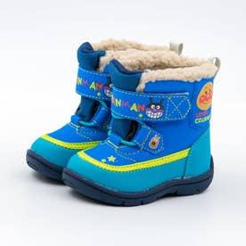 ベビー キッズ  アンパンマン 長靴 スノーブーツ レインブーツ 防水 バイキンマン チーズ コキンちゃん (ブルー)