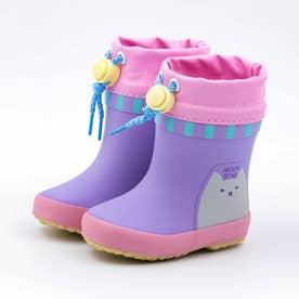 ベビー キッズ 男の子 女の子 子供  動物 長靴 レインブーツ スノーブーツ ワニ ネコ MS WB019R (パープル)