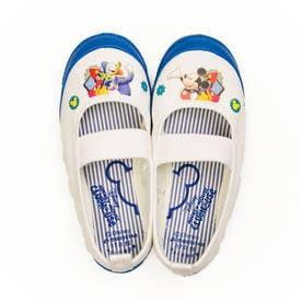 上履き 上靴 キャラクター ディズニー プリンセス カーズ アナ雪 ソフィア ミッキー 男の子 女の子 キッズ (【ミッキー&フレンズ】ブルー)