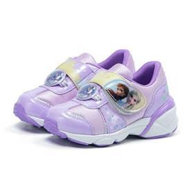 キッズ 女の子 子供 女児 スニーカー ディズニー アナ雪 運動靴 アナと雪の女王 プリンセス アナ エルサ (パープル)