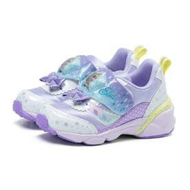 キッズ 女の子 子供 スニーカー ディズニー アナ雪 光る 運動靴 アナと雪の女王 プリンセス アナ エルサ (パープル)