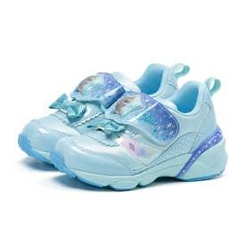 キッズ 女の子 子供 スニーカー ディズニー アナ雪 光る 運動靴 アナと雪の女王 プリンセス アナ エルサ (サックス)
