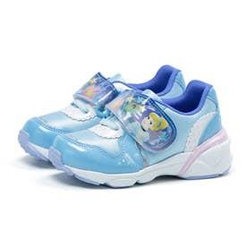 キッズ 女の子 男の子 子供 スニーカー ディズニー 光る靴 シンデレラ 美女と野獣 ベル カーズ (ライトブルー)