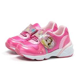 キッズ 女の子 男の子 子供 スニーカー ディズニー 光る靴 シンデレラ 美女と野獣 ベル カーズ (ピンク)