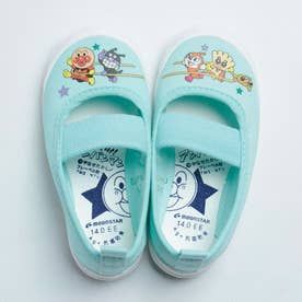 上履き 上靴 キャラクター アンパンマン 男の子 女の子 キッズ 幼稚園 スクール 日本製 APM02 (ライトブルー)